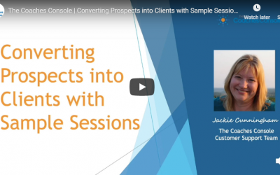 Converting Prospects into Clients with Sample Sessions